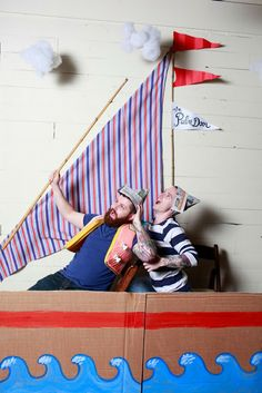 Here are the pictures from photo booth at our Anniversary Party by the talented Paige . This was such a fun idea & also inexpensive. Sailing Party, Sailing Theme, Boat Theme, Yacht Party, Pirate Photo Booth, Diy Photo Booth, Pirate Baby, Pirate Theme, Decoration Pirate