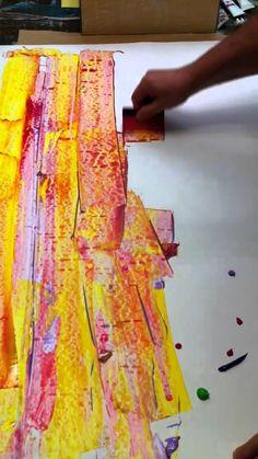 Pintura con espátula