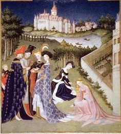 medieval art- I like this painting because of the bright colors of the clothing, the daintiness of the people, and the detail of the background. Though the background may not look very realistic, it does have immense detail for Medieval art.