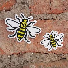 Manchester Bee Vinyl Stickers