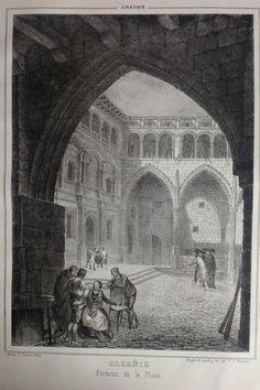 Plaza de #Alcañiz en #Teruel sobre el año 1800