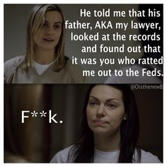 #OITNB Orange is the New Black Piper & Alex