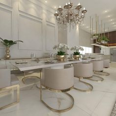 nice house interior dream homes Dining Room Design, Dining Room Decor, Luxury Dining, Dining Room Glam, Luxury Dining Room, Dining, Kitchen Design, Luxury Home Decor, Dining Room Interiors