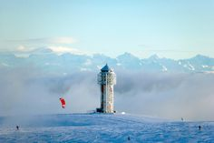 Feldberg, Winter You can also marry in this tower - there is a room in it. some even come by helicopter. you can see the alps very well expecially during the winter period.