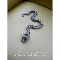 Chainmail Snake by XnPurple on Etsy