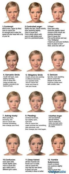 Facial Expressions Reference Guide