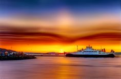 That flying cloud in the sky! by Aziz Nasuti on Beautiful Norway, Northern Lights, Places To Visit, Clouds, Sunset, Landscapes, Ships, Painting, Travel