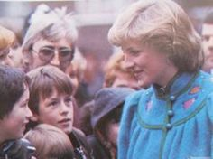 January 23, 1982: Princess Diana at the Dick Sheppard School in Tulse Hill, Brixton.
