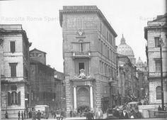 Roma Sparita. Foto storiche di Roma - Piazza Pia e la Spina di Borgo