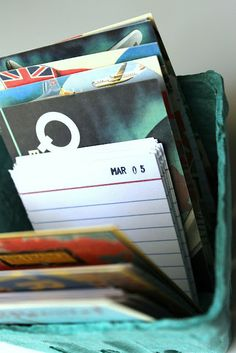The Year Box - jot down fun things you do to look back on for years to come
