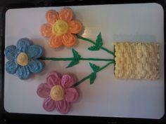 Mini Cupcake Flower Cake in a Brownie Basket