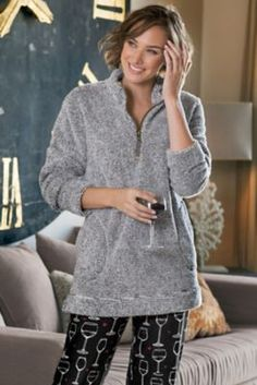 Soft Surroundings Tops - Plus-size Luxe Sherpa Pullover Celebrity Boots, Celebrity Dresses, Celebrity Style, Pullover, Soft Surroundings, Dress Pants, Lounge Wear, Winter Outfits, Tunic Tops