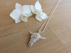 Anhänger Büffel Elegant, Silver, Jewelry, Fashion, Neck Chain, Classy, Moda, Chic, Jewlery