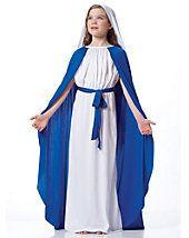 Girls Deluxe Virgin Mary Costume - biblical-religious - girls