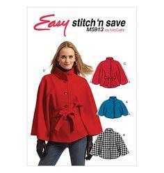 Image result for cape pattern belted fleece