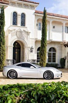 Ferrari parked outside Style Estate