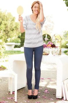 LC Lauren Conrad fall collection {stripes + polka dots}