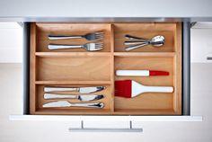 IKEA Küchenschrankeinrichtung wie RATIONELL Basis-Besteckkasten aus Buche