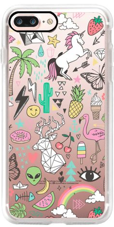 Casetify iPhone 7 Plus Case and other Retro iPhone Covers - Summer Time Doodle by Caja-Design | Casetify