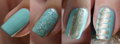 DIY Nail Art | Tiffany Swipe ~ Beautyill | Beautyblog met nail art, nagellak, make-up reviews en meer!