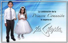 El #vestido de #Primera #Comunión blanco representa la pureza e inocencia que alberga el corazón y mirada de un #niño #tiendalagloria
