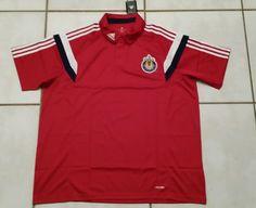Rare NWT ADIDAS Chivas USA MLS RED Soccer Polo Shirt Men's 2XL  #adidas #CDChivasUSA
