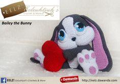 Bailey the Bunny - Crochet Pattern van Eelz! - Eelzuhtjuh's Crochet & More op DaWanda.com
