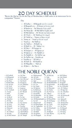 20 Day Quran Reading Schedule and Beautiful Quran Quotes, Islamic Love Quotes, Islamic Inspirational Quotes, Ramadan Quran, Ramadan Day, Learn Quran, Learn Islam, Surah Al Quran, Islam Quran