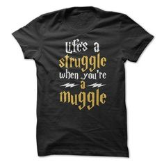 Lifes A Struggle When You're A Muggle Are you a Harry Potter Fan? Show everyone your struggle in life being a muggle with this hilarious Shirt! Harry Potter Shirts, Harry Potter Hermione, Harry Potter Diy, Universal Studios, Universal Orlando, Design T Shirt, Shirt Designs, Family Shirts, Shirts For Girls