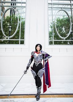 League of Legends- the cosplayer is Yaya Han, whom is being featured on SyFy's Heroes of Cosplay