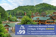 Plan your vacation with Westgate Reservations - Westgate Resorts' discounted vacation packages and resort stays with exclusive amenities and luxury accommodations. Fall Vacations, Affordable Vacations, Great Vacations, Great Smoky Mountains, Vacation Deals, Vacation Trips, Travel Deals, Orlando Florida, Gatlinburg Vacation
