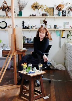 Cressida Campbell in her Sydney studio. Photo – Sean Fennessy, production – Lucy Feagins / The Design Files. Artist Life, Artist Art, Artist At Work, Art Studio Design, Dream Studio, Painting Studio, The Design Files, Australian Artists, Art Studios