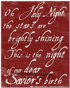 """Oh Holy Night the true meaning of Christmas!"