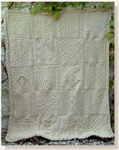 Great American Aran Afghan pattern.  This is on my to do list!