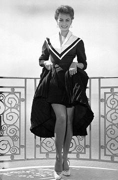 Sophia Loren at the Cannes Film Festival, 1955