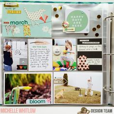 Hey guys, Michelle here with a spring pocket page using the awesome Shine Bright Daily Diary kit . I have had so much fun playing with thi...
