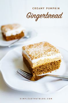 Delicious layers of soft gingerbread cake, creamy pumpkin and light whipped topping. Perfect for serving a crowd.
