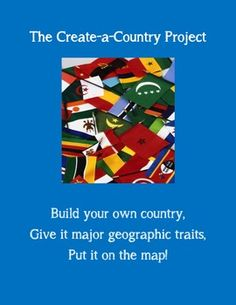 The Create-a-Country Geography Skills Project requires students -- upper elementary, middle, or high school -- to demonstrate fundamental geography skills. in a fun, engaging way. -- END OF YEAR PROJECT? Social Studies Projects, 6th Grade Social Studies, Social Studies Classroom, Social Studies Activities, Teaching Social Studies, Classroom Community, Geography Lessons, Teaching Geography, Teaching History