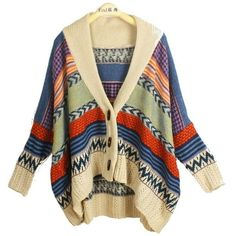 SALE FREE SHIP Oversized Cardigan Sweater from Lucky Seven Shop on... ❤ liked on Polyvore featuring tops, cardigans, sweaters, outerwear and oversized cardigan