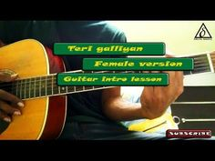 Teri galliyan | Female version | Guitar intro lesson