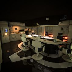 spaceship hd obj - Spaceship Interior HD by FattyPants Spaceship Interior, Futuristic Interior, Futuristic Design, Blade Runner, Star Wars Room, Sci Fi Environment, Bungalow, Common Room, Interior Concept