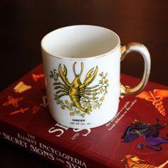 Vintage Zodiac CANCER Astrology Mug