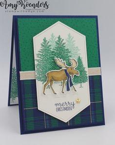 Homemade Christmas Cards, Stampin Up Christmas, Homemade Cards, Handmade Christmas, Xmas Cards, Holiday Cards, Tarjetas Stampin Up, Stampin Up Weihnachten, Christmas Moose