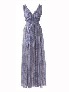 Burda maxi dress pattern, love the tie at the waist.