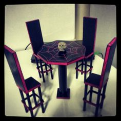 A little cliched i know looks like a seance table or something. Would be nice in a nook or in a conservatory if it were available in real life at full ... : monster high table and chairs - Cheerinfomania.Com