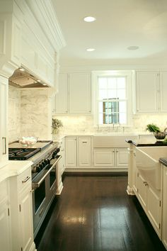 Top 25 Must See Kitchens on Pinterest - laurel home | perfect white kitchen | dream kitchen | designed by Libby Palmieri