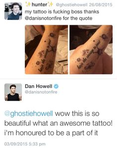 just pinning not for Dan and Phil, but cause this is an awesome tattoo.