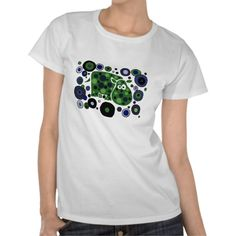 Funky Spotted Hippo Art Design Shirt #hippos #funny #shirts #art #abstract #zazzle #animals #petspower