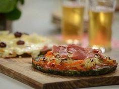 Pizza de espinacas sin masa   Alicia Gallach