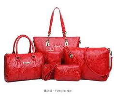 TAS IMPORT KODE: 88069 (6in1) IDR.220.000  MATERIAL PU  SIZE BIG-L30XH28XW12 MEDIUM-L27XH18XW11CM  WEIGHT 1000GR  COLOR RED